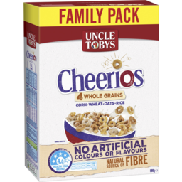 Photo of Uncle Tobys Cheerios Wholegrain Breakfast Cereal 580g 580g
