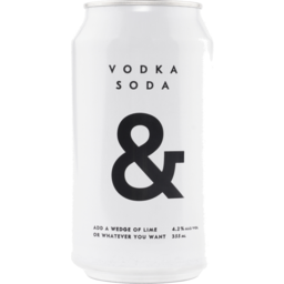 Photo of Vodka Soda & Rtd 355ml