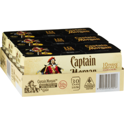 Photo of Captain Morgan & Cola 375ml 3x10 Pack