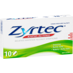 Photo of Zyrtec Hayfever Rapid Acting Mini Tablets 10 Pack