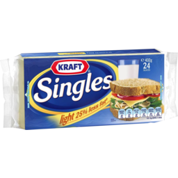 Photo of Kraft Cheese Singles Light 432g 24pk