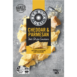 Photo of Red Rock Deli Cheddar & Parmesan Deli Style Crackers 135g
