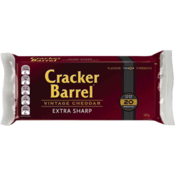Photo of Cracker Barrel Vintage Cheddar Extra Sharp 500g Resealable Pack