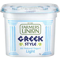 Photo of Farmers Union Greek Style Natural Yogurt Light 1kg