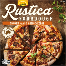 Photo of Mccain Rustica Smoked Ham & Aged Cheddar Sourdough Pizza 410g