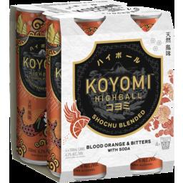 Photo of Koyomi Highball Shochu Blended Blood Orange And Bitters 250ml 4 Pack