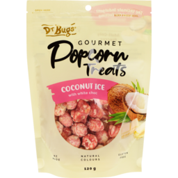 Photo of Dr Bugs Gourmet Popcorn Coconut Ice 120g