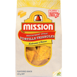 Photo of Mission Tortilla Triangles Extreme Cheese 230g