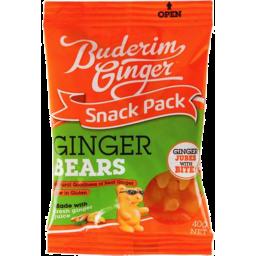 Photo of Buderim Snack Pack Ginger Bears 40gm