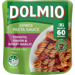 Photo of Dolmio Tomato Onion & Roast Garlic Express Pasta Sauce Pouch 170g