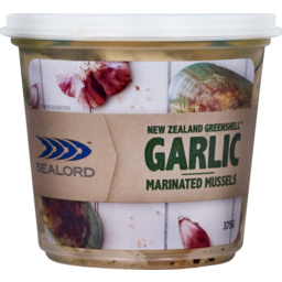 Photo of Sealord Marinated Mussels Garlic Flavour 375g