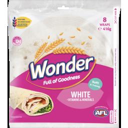 Photo of Wonder Wholegrain Wonder Soft White Wraps Vitamins & Minerals 6 Pack 416g
