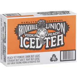 Photo of Brookvale Union Vodka & Peach Iced Tea 24pk Can Ca
