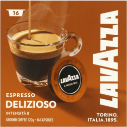 Photo of Lavazza Espresso Delizioso Intensita 8 Ground Coffee Capsules 120g