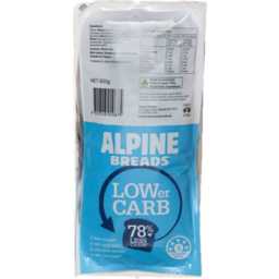 Photo of Alpine Breads Low Carb 600gm