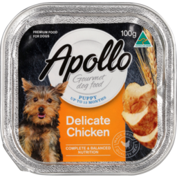 Photo of Apollo Gourmet Dog Food, Puppy Up To 12 Months, Delicate Chicken 100g