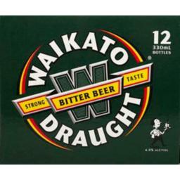 Photo of Waikato Draught 12 x 330ml Bottles