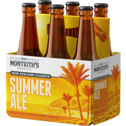 Photo of Monteiths Classics Summer Ale 330ml Bottles 6 Pack