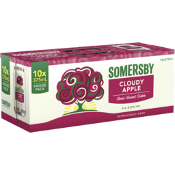 Photo of Somersby Cloudy Apple Can 375ml 10 Pack