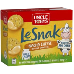 Photo of Uncle Tobys Le Snak Nacho Cheese 6 Pack 132g