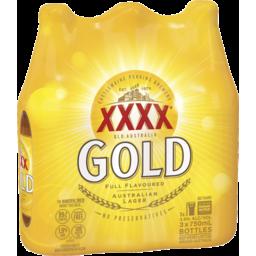 Photo of Xxxx Gold Australian Lager 3 X 750ml Bottle Shrinkwrap