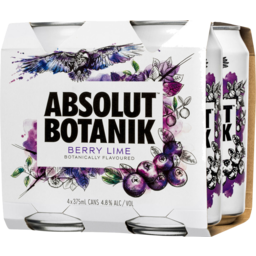 Photo of Absolut Botanik Berry And Lime 4 pk