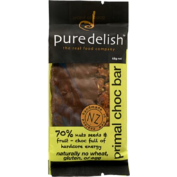 Photo of Pure Delish Primal Bar Chocolate 68g