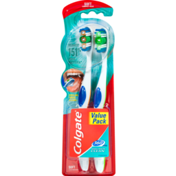 Photo of Colgate 360° Whole Mouth Clean Soft Bristles Toothbrush Compact Head With Teeth And Tongue Cleaner Value 2 Pack
