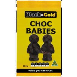 Photo of Black & Gold Choc Babies 200gm