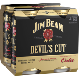 Photo of Jim Beam Devil's Cut 6.66% & Cola Cans