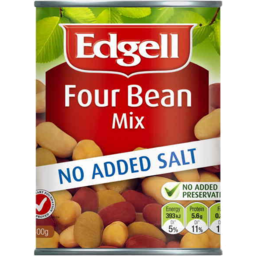 Photo of Edgell Four Bean Mix No Added Salt 400g
