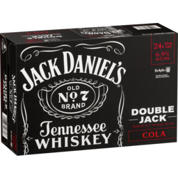Photo of Jack Daniels Double Jack & Cola 6.9% 375ml 24 Pack