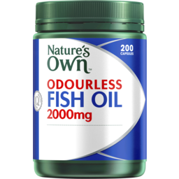Photo of Nature's Own Odourless Fish Oil 2000mg 200 Capsules