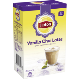 Photo of Lipton Instant Latte Sachets Vanilla Chai Tea 8 Pack 185g