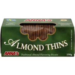 Photo of Annas Thins Almond 150g