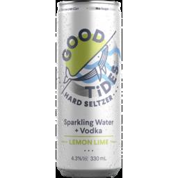 Photo of Good Tides Lemon Lime Seltzer Can