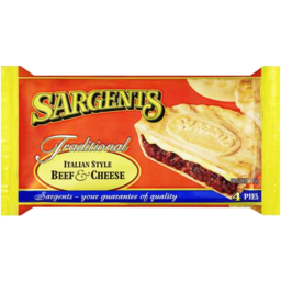 Photo of Sargents Italian Style Beef & Cheese Pies 4pk