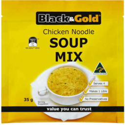 Photo of Black And Gold Soup Chicken Noodle 50gm