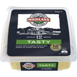 Photo of Mainland Tasty Cheddar Cheese Slices 210 G