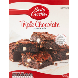 Photo of Betty Crocker Brownie Mix Triple Chocolate Fudge 500g