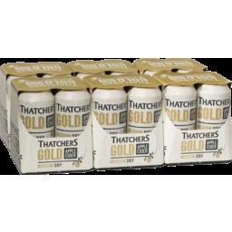 Photo of Thatchers Gold Apple Cider Medium Dry 440ml 24 Pack