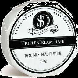 Photo of St David Dairy Triple Cream Brie 280g