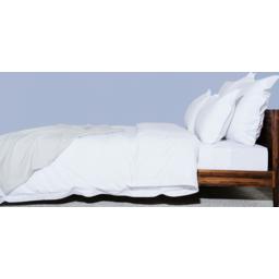 Photo of Ecolinen Quilt Cover Set - Single (White)