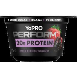 Photo of Danone Yopro Perform 20g Protein Mixed Berries Yoghurt 175g