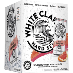 Photo of White Claw Pink Grapefruit Seltzer Cans