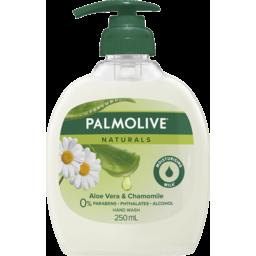 Photo of Palmolive Naturals Liquid Hand Wash Soap Softening Aloe Vera & Chamomile Pump 0% Parabens Recyclable 250ml