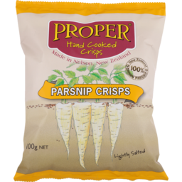 Photo of Proper Crisps Parsnip Lightly Salted 100g