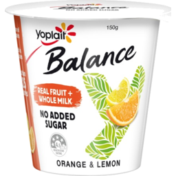 Photo of Yoplait Yoghurt Balance Orange &Lemon 150gm