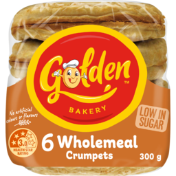 Photo of Golden Crumpets Wholemeal 6x300g