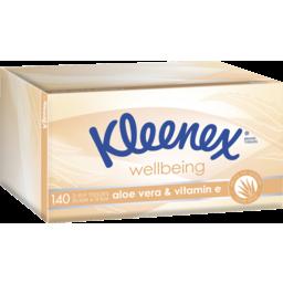 Photo of Kleenex Aloe Vera & Vitamin E Facial Tissues 140 Pack
